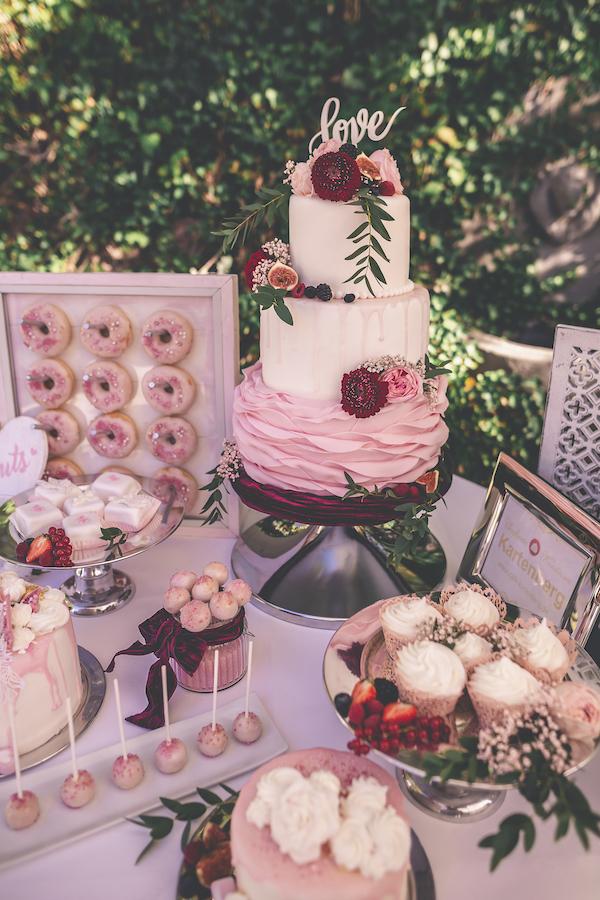 Sweet Table zur rosaroten Hochzeit