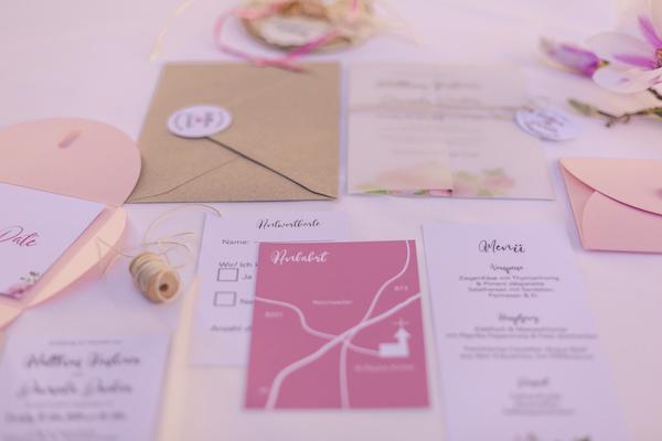 Papeterie in rosarot