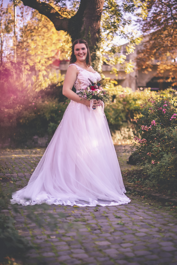 A-Linie Brautkleid mit viel Tüll