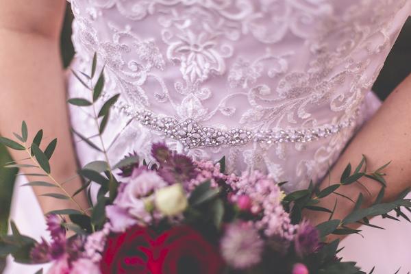 Glitzergürtel zum Hochzeitskleid