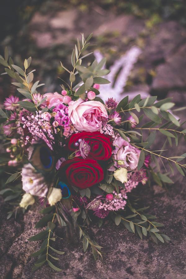 Brautstrauß in rosarot